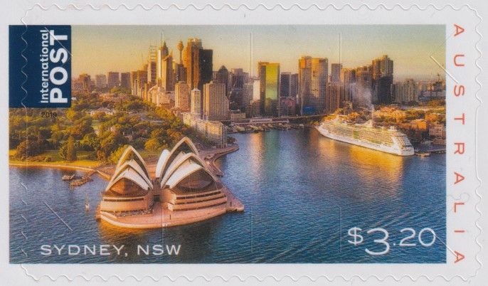 AUS 23/09/2019 $3.20 Beautiful Cities: Sydney self-adhesive from sheetlet