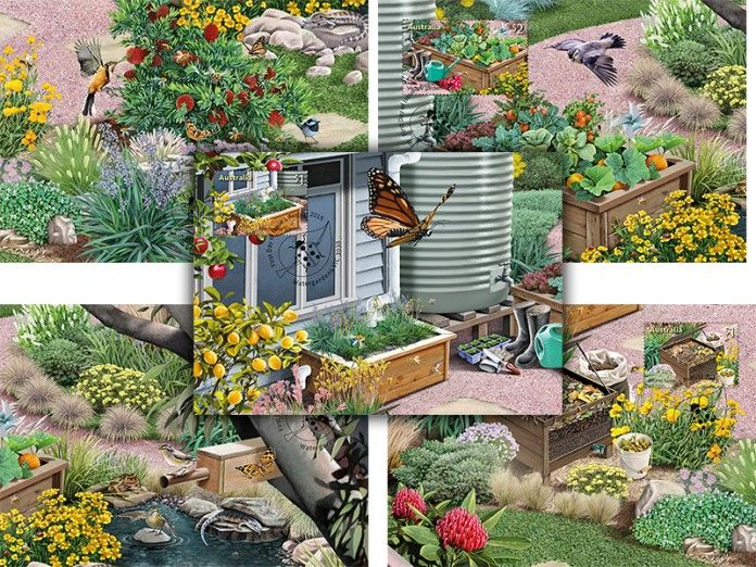 Australia Maximum Cards: APMX 605 Stamp Collecting Month 2019: In the Garden set of 5