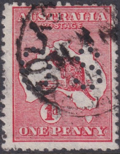 Australian Official Stamp SG O17 1d Red Die I Kangaroo (AOG/496)