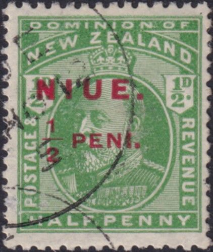 Niue SG17 ½d. King Edward VII green (UEE0/20)
