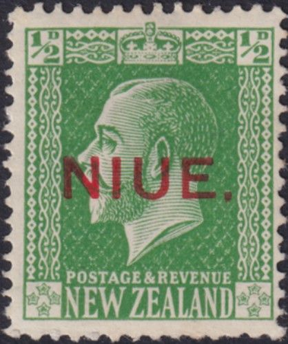 Niue SG23 ½d. King George V green typo printed (UEE0/24)