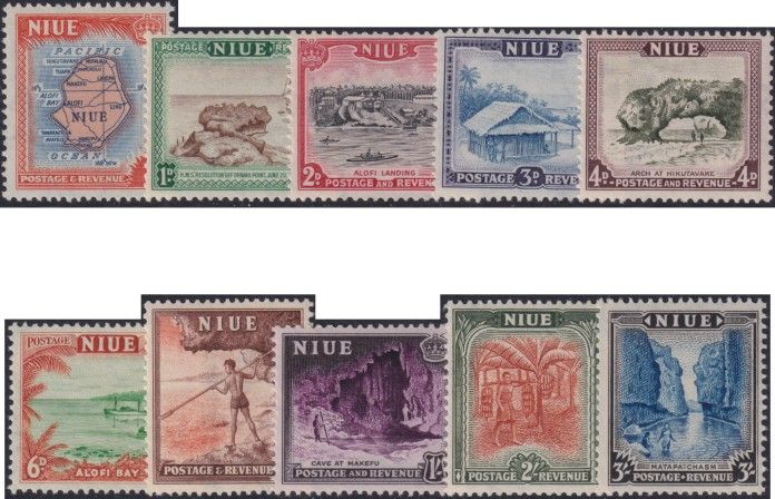 Niue SG113-22 1950 Definitive Pictorial set of 10