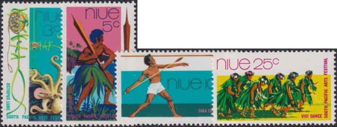 Niue SG166-9 South Pacific Arts Festival, Fiji set of 4