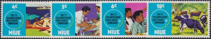 Niue SG170-3 25th Anniversary of South Pacific Commission set of 4
