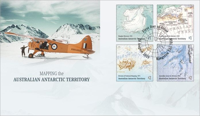 20/08/2019 Australian Antarctic Territory FDC Mapping the AAT set of 4